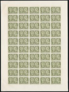 Lot 204, Canada 1897 five dollar Jubilee plate proof in olive green, sold for C$12,075.
