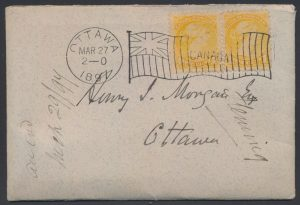 Lot 802, Cover containing 1897 letter from Sir Sandford Fleming to Henry Morgan, sold for C$1,265