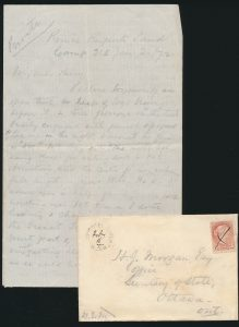 Ex-Lot 805, Correspondence related to Canadian Pacific Railway survey north of Lake Superior, sold for C$4,600