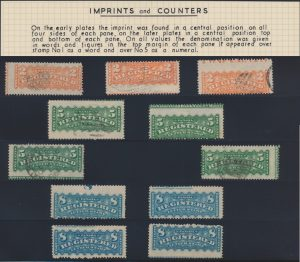 Lot 475, Collection of Canada Registration stamps with imprints & counters, sold for C$2,300