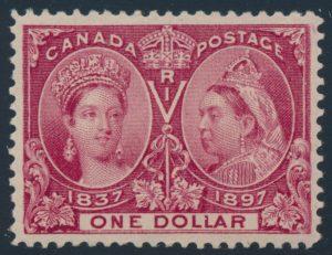 Lot 1283, Canada 1897 one dollar lake Jubilee, XF NH