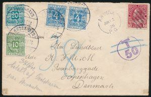Lot 814, Collection of Canada Admiral destination covers with Postage Due stamps