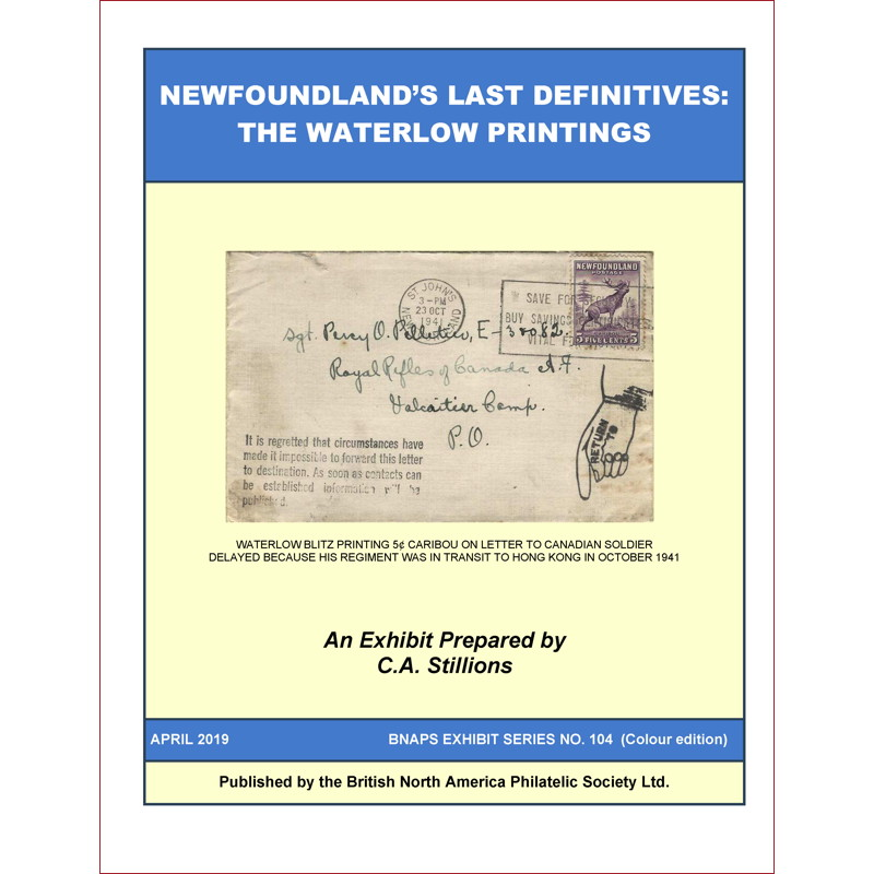 Newfoundland's Last Definitives: The Waterlow Printings