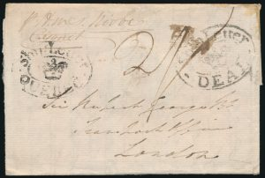 Lot 618, Québec 1813 Ship Folded Letter Chambly to England, sold for C$920