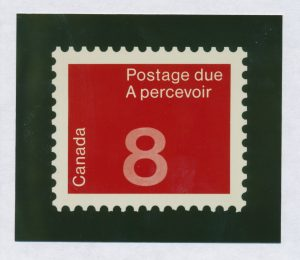 Lot 291, Production material from unissued c. 1980 Postage Due stamp
