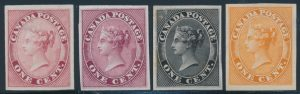 Lot 51, Canada 1859 one cent Queen Victoria plate proofs