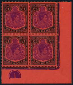 Lot 526 Bermuda #124, 127, 128 1938-51 Group of King George VI High Values