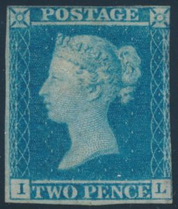 Lot 557, Great Britain 1841 two penny blue, Fine, mint o.g., position IL