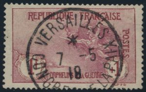 Lot 613, France 1917 War Orphans semi-postal, used