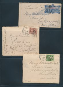 Lot 1033, 1892-98 Correspondence from Hawaii to Nova Scotia with 31 covers, sold for C$3,744