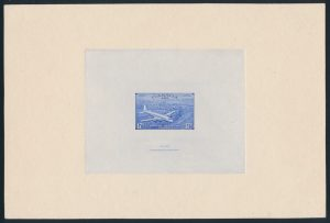 Lot 312, Canada 1943 Airmail Special Delivery large die proof, sold for C$2,691