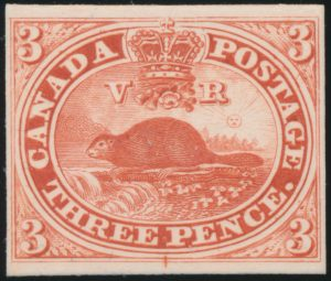 Lot 5, Group of Canada three penny beaver plate proofs in red, sold for C$438
