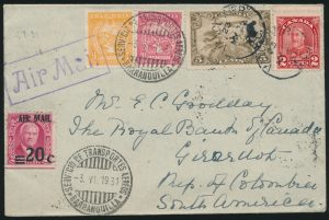 Lot 1312, 1931 SCADTA cover, Vancouver to Baranquilla Colombia