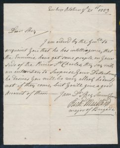 Lot 1102, Canada 1759 second of three folded letters from the Québec Military Campaign to Captain Boughey Skey, group sold for C$53,820