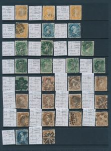 Lot 1349, A Superior Collection of Fancy Cancels on Large Queen stamps, sold for C$1,989