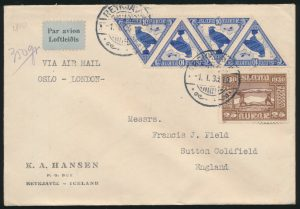 From Lot 1512, Group of 56 First Flight and Air Mail covers and cards from European Countries, sold for C$1,170