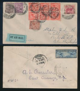Lot 1538, Great Britain 1927 and 1928 Round The World flight covers, sold for C$1,521