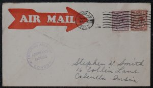 Lot 1541, Group of 70 Air Mail covers Great Britain to India, sold for C$936