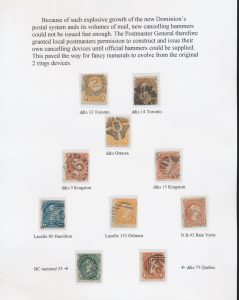 Lot 1342, Collection of fancy postmarks on Large Queens, sold for C$1,521