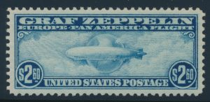 Lot 230 United States #C15 1930 $2.60 Blue Graf Zeppelin XF NH, PSE graded Superb 98, Mint OGnh
