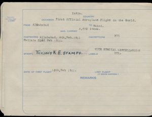 Write-up from Lot 1385, Leon V. Pont Extensive Personal Collection of Indian First Flight and Related Covers, 1911 to 1934sold for C$99,450