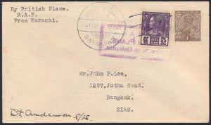 Lot 1457, India 1930 R.A.F. goodwill flight to Singapore, sold for C$5,148