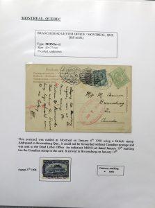 Lot 1105, Montréal Dead Letter Office postmarks collection, sold for C$2,457