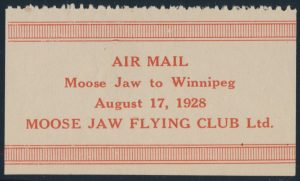 Lot 363, Canada 1928 one dollar red on white Moose Jaw Flying Club Semi Official, VF mint