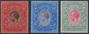 Lot 810, East Africa and Uganda Protectorates 1912-18 1c to 50r King George V Set, F-VF mint