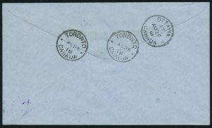 Lot 824, Canada 1918 Aero Club of Canada semi-official on registered cover Ottawa to Toronto, sold for C$4,914