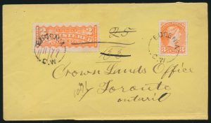 Lot 863, Extensive Collection of Grey County postal history, from early to modern, sold for C$8,775