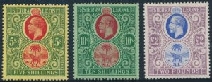 Lot 1004, Sierra Leone 1921-27 King George V part set, VF mint