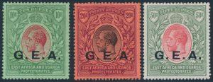 Lot 1092, German East Africa 1906 King George V British Occupation set, VF mint