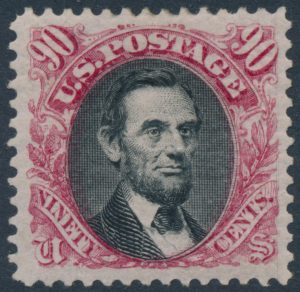 Lot 412, USA 1875 ninety cent Lincoln re-issue, VF mint