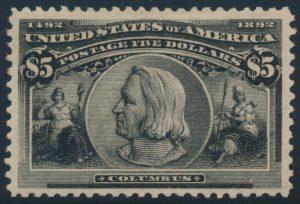 Lot 476, USA 1893  five dollar black Columbian Exposition, VF mint