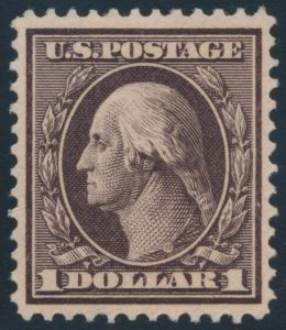 High value of Lot 525, USA 1908-09 Washington-Franklin set, sold for C$3,393