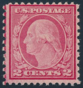 Lot 573, USA 1919 two cent carmine rose Washington, Fine NH