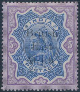 Lot 732, British East Africa 1895 Queen Victoria overprinted set, mint