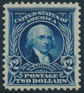 Lot 520, USA 1903 two dollar dark blue Madison, VF mint, sold for C$1,053