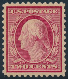 Lot 569, USA 1917 two cent carmine Washington, XF mint NH