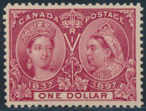 Lot 116, Canada 1897 one dollar lake Jubilee, XF NH