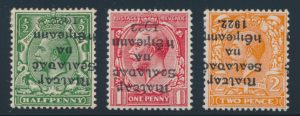 Lot 396, Ireland 1922 group of early issues with inverted overprints, VF mint