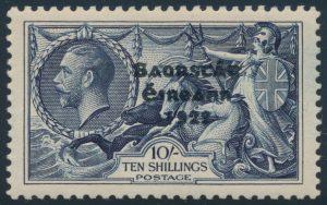 High Value, Lot 405, Ireland 1935 2sh6d to 10sh Seahorse overprint set, VF mint
