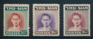 Lot 449, Thailand 1947-49 definitives, three high values F-VF NH