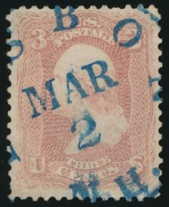 From Lot 451, USA 1861 Three cent Washington old time collection