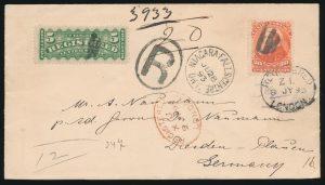 Lot 581, Canada 1893 20c Widow Weeds cover, Niagara Falls to Dresden, Germany