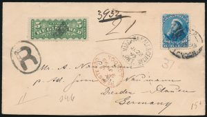 Lot 581, Canada 1893 registered 50c Widow Weeds cover, Niagara Falls to Dresden, Germany