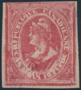 Lot 73 Canada Ca. 1869-70 Louis Riel Essay in Red