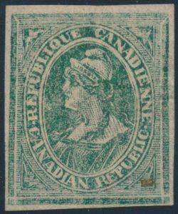Lot 74 Canada Ca. 1869-70 Louis Riel Essay in Green