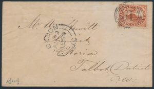 Lot 642, Collection of nine Canada 4-ring numeral cancels on First Cents covers, sold for C$3,744